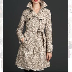 Banana Republic Mad Men Leopard Trench Coat Jacket